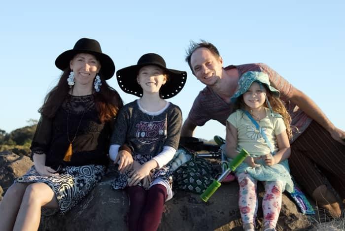 Gareth Vanderhope Children's Author with Family