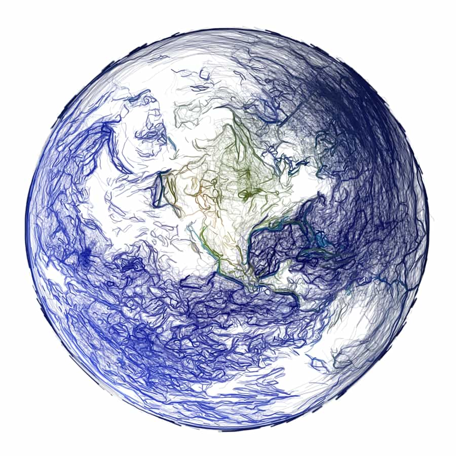 Drawing of Planet Earth