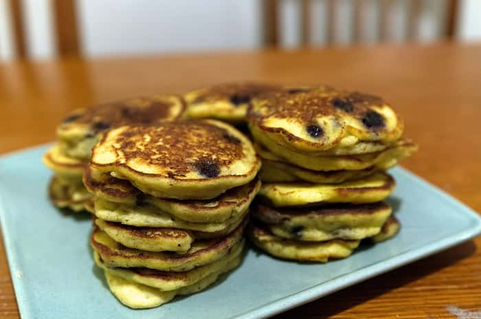 Stack-of-Healthy-Blueberry-Ricotta-Hocakes