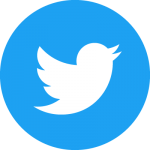 Twitter logo blue circle background and white bird