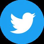 Twitter logo blue circle background and white bird